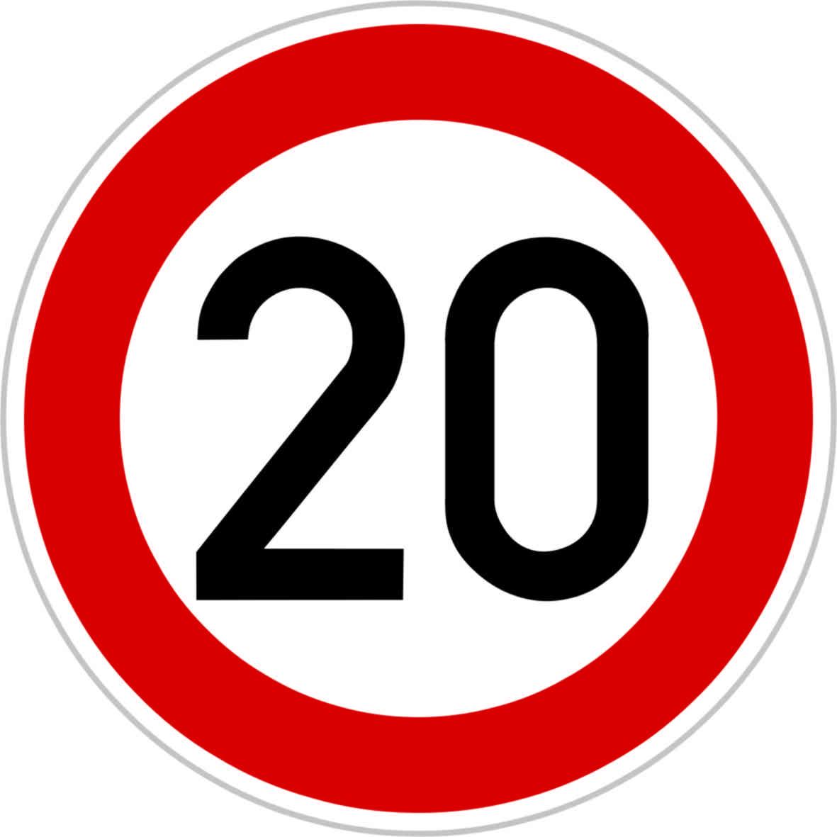Dopravní značka B20a - 20 km/hod