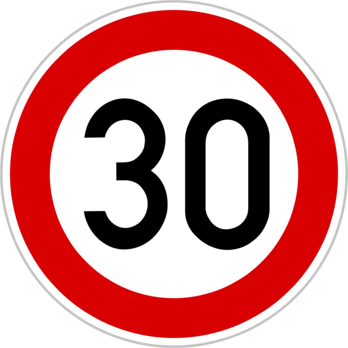 Dopravní značka B20a - 30 km/hod