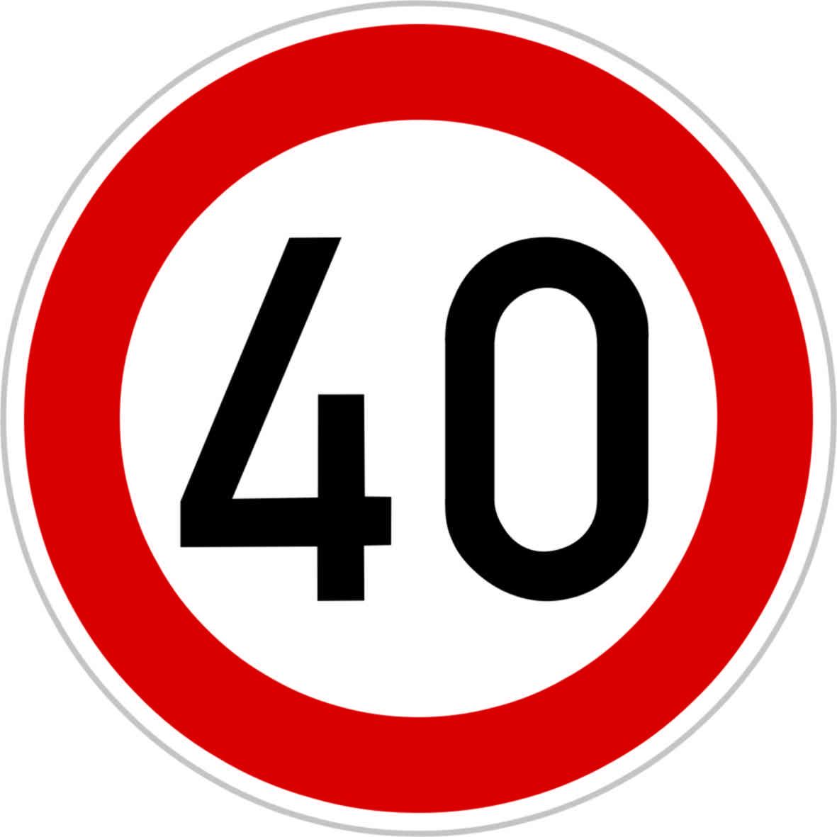 Dopravní značka B20a - 40 km/hod