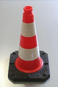 Dopravní kužel 50 cm - reflexní 2 pruhy