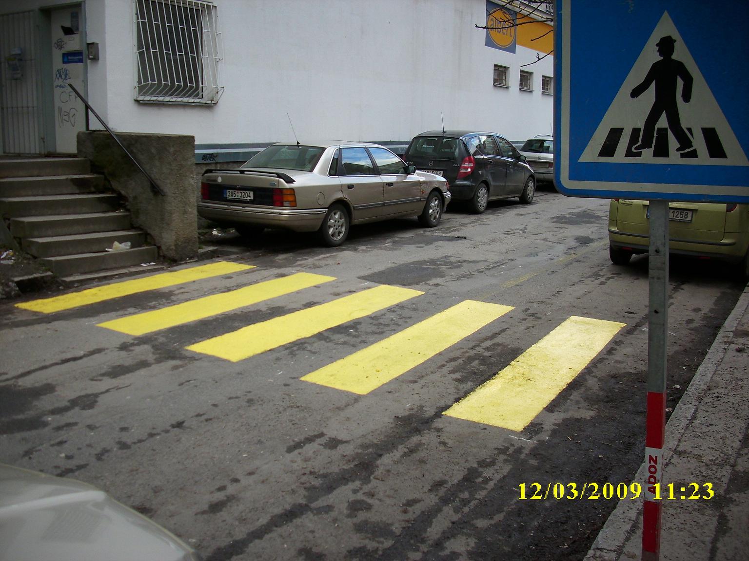 Nástřik přechodu pro chodce
